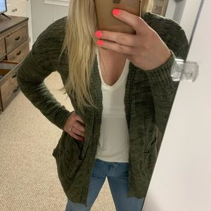 Mossimo Cardigan olive green size M